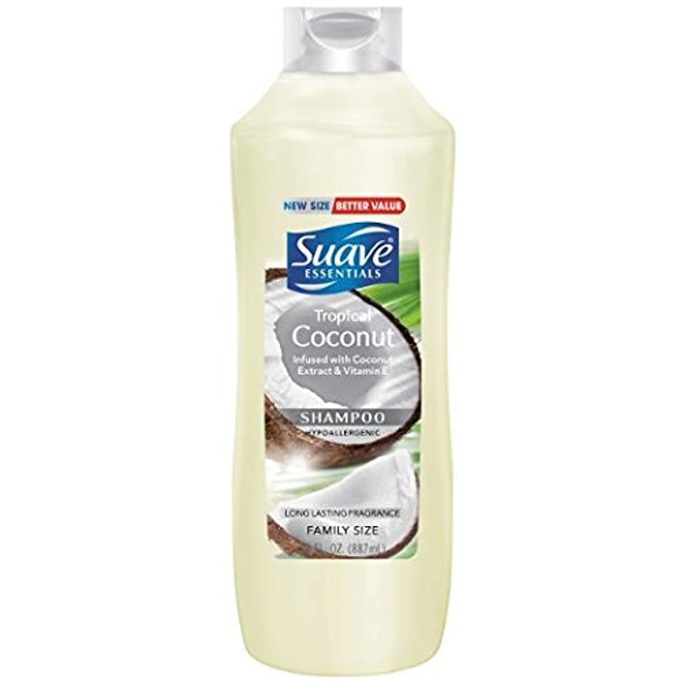クールシロクマ着替える2 PK. Suave Essentials Shampoo, Tropical Coconut, 30 Oz. Ea. [並行輸入品]
