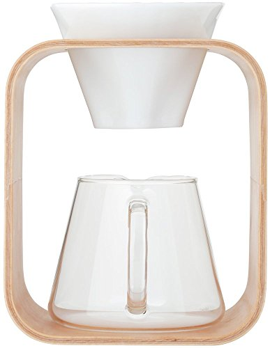 イワキ スノウトップ コーヒーポット&ドリッパーセット Barafu ホワイト (K9966DS-M) 600ml