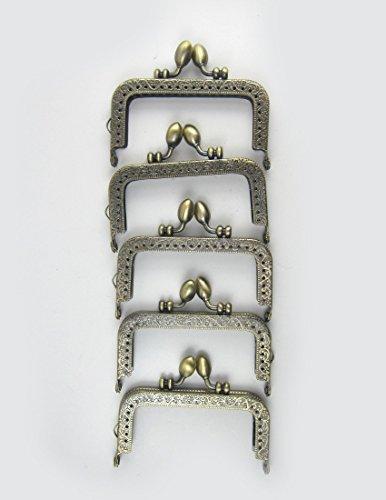 アンティーク風 がま口 角型 くし型 口金 セット どんぐり 選べる 材料 手芸材料 ハンドメイド (角型どんぐり8.5cm10個)
