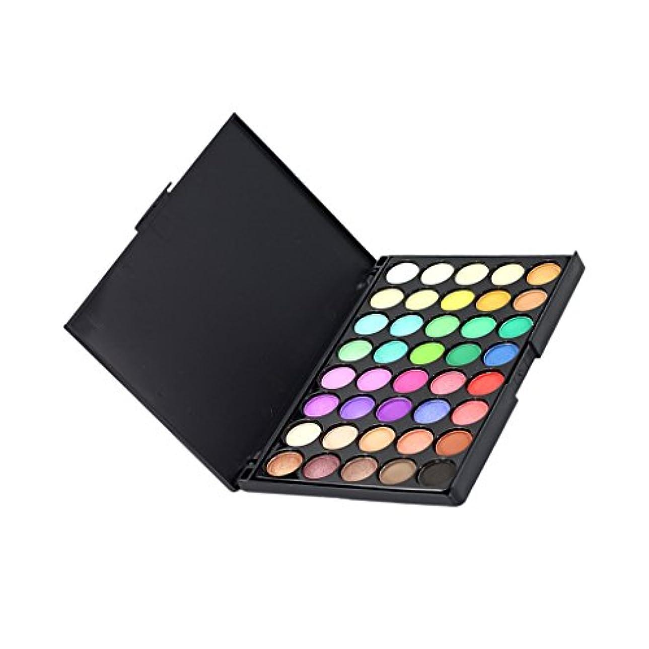 比喩拡声器契約40色美容パウダーアイシャドウアイシャドーパレットメイクアップセット - 2