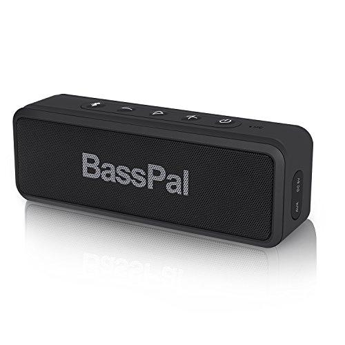 BassPal SoundRo X3 Bluetoothスピーカー ワイヤレス ポータブルBluetooth4.2スピーカー IPX6防水 2×5wドライバー 高音質 AUXオーディオ コンパクト黒