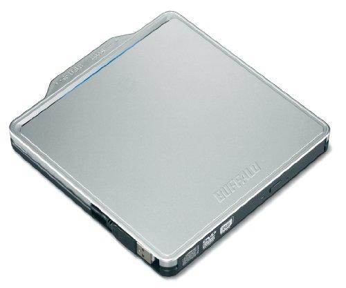 BUFFALO USB2.0用 ポータブルDVDドライブ Wけーブル収納タイプ シルバー DVSM-PC58U2V-SVC