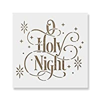 """O Holy Nightステンシルテンプレート–再利用可能なステンシルwith複数サイズあり 12""""x12"""""""