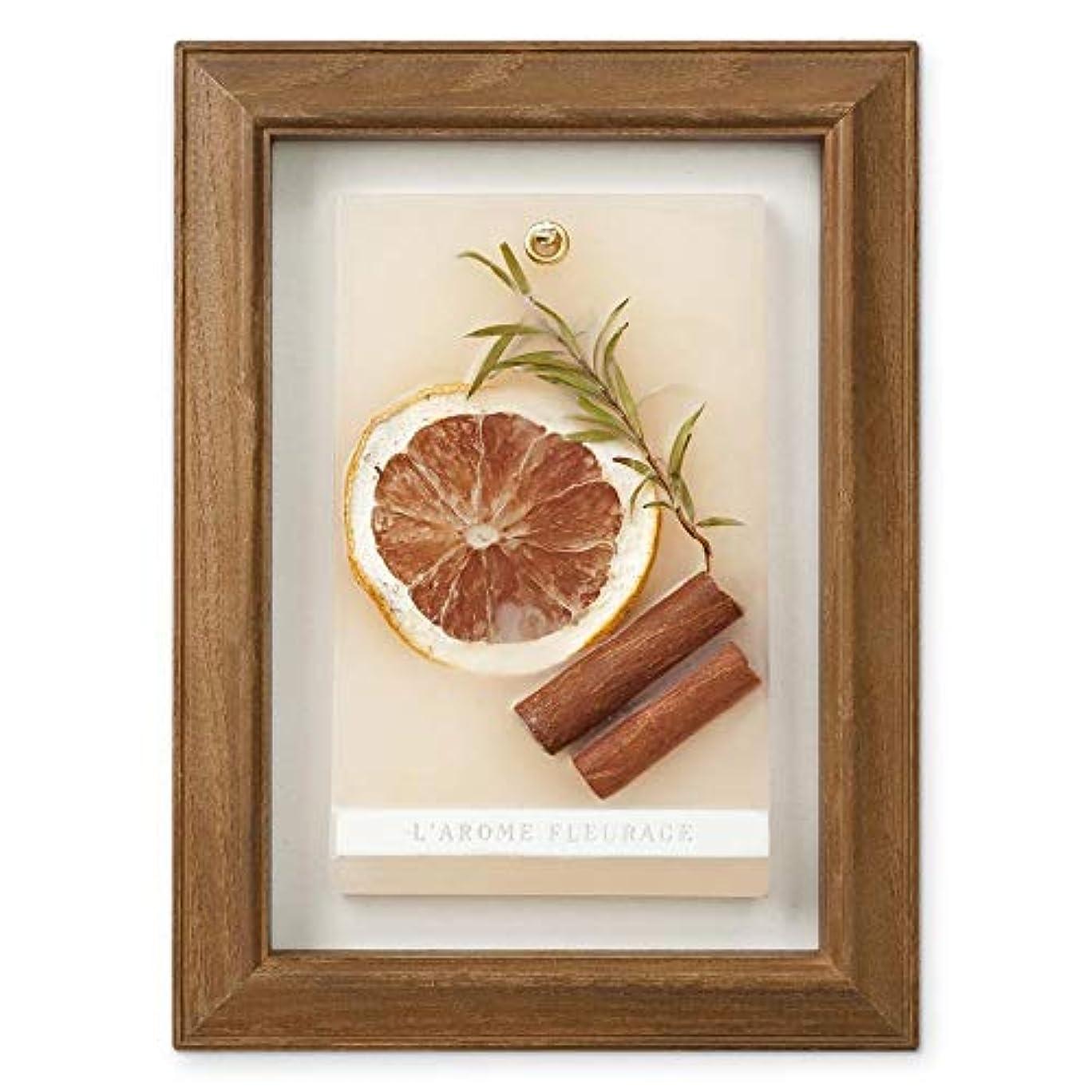 トレイヘッドレス禁止するFLEURAGE(フルラージュ) アロマワックスサシェ スイートオレンジの香り Orange×AntiqueBrown KH-61121