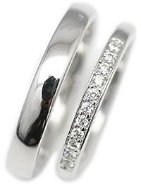 【マリッジリング】 ダイヤモンド 【NEWショップ】 結婚指輪 ペアリング 2本セット ダイヤリング 【ホワイトゴールド】 天然 日本製 K10 ホワイトゴールド