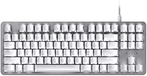 Razer キーボード BlackWidow Lite Mercury White メカニカル キーボード 静音オレンジ軸 テンキーレス 英語US配列 【日本正規代理店保証品】 RZ03-02640700-R3M1