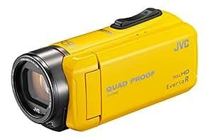 JVC ビデオカメラ Everio R  防水5m 防塵仕様 耐低温 耐衝撃 内蔵メモリー32GB イエロー GZ-R400-Y