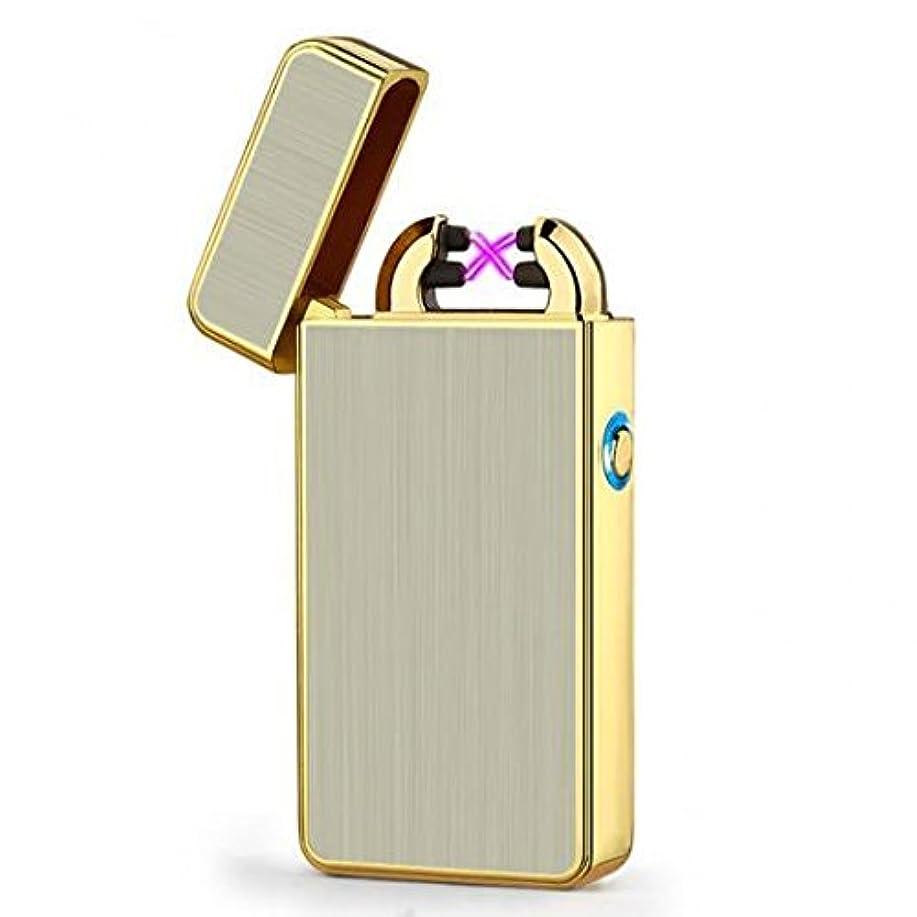 AL アーク ダブル USB 充電 ライター プラズマ 電子 タバコ パルス 煙水ギセル 葉巻 カラー7 AL-AA-2085-COL7