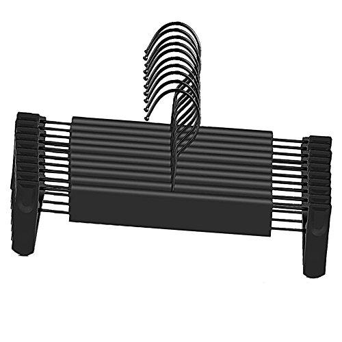 ズボンハンガー すべらない クリップハンガー ステンレス製 ハンガーラック 大人子供兼用 便利なハンガー 調節可能 360度回転可能 ズボン/スカート/カバー/洗濯物/バスタオル/ネクタイにも適用 10本セット