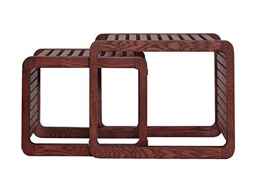 サイドテーブル おしゃれ 木製 ネストテーブル (大1個+小1個)
