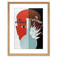 Ad Health Eyes Protect Eyesight Small Framed Wall Art Print