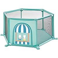 フェンスフォールディング無料のインストールの安全ベビー子供のゲームの幼児のフェンスの子供の安全フェンス (Color : Green, Size : 160 * 160 * 67cm)