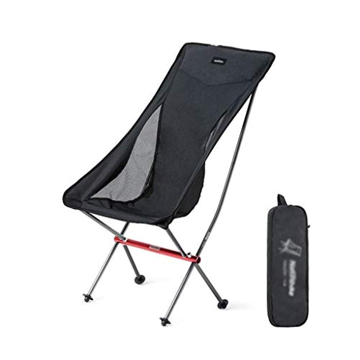 前部インタフェース証明するキャンプチェア、快適な キャンプチェア、お手入れが簡単、丈夫な折りたたみチェア屋外のキャンプスツール (色 : Black 1)