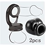 Ball Rings Premium Stretchy Double Lock Silicone for Men Increase Stamina 2pcs