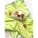 "Keiki Berry Sloth Baby Blanket - Snuggle Soother 14""x14"""