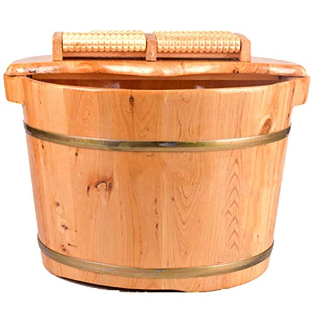 誰操作可能電極ペディキュア盆地,軽量の木製家庭の木製の樽の足湯バスソリッドウッドの木管大人のトランペット