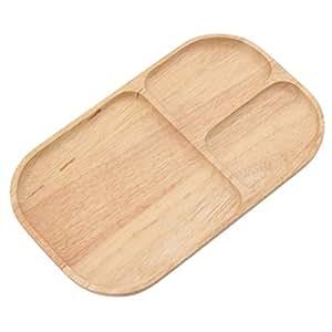 不二貿易 木製 スクエアトレー 仕切り付 ボヌール キッチン雑貨シリーズ ナチュラル 96197