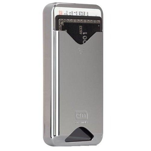 Case-Mate iPhone4 専用 カードホルダー付ハードケース ID Case グロス・メタリック・シルバー CM011688