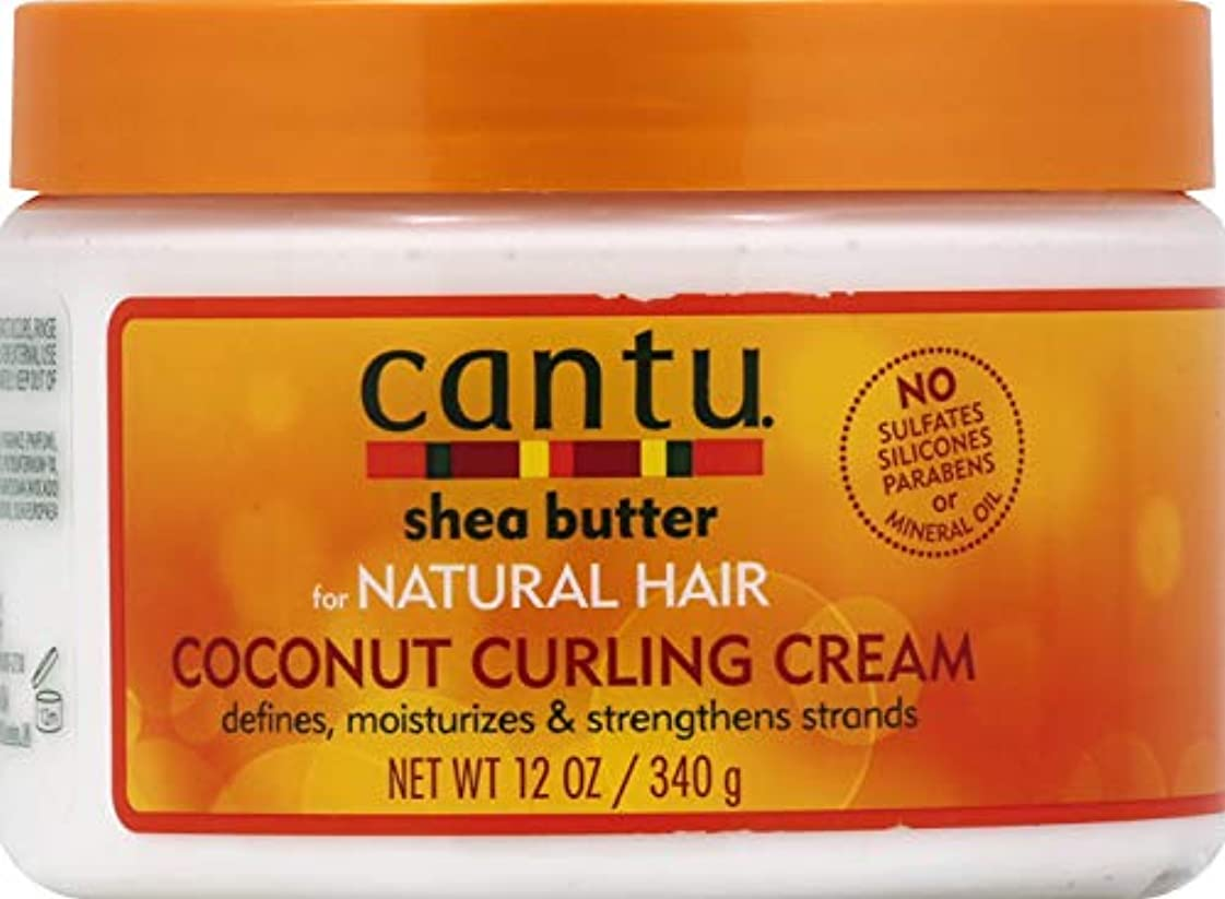 屋内で比類なきうるさいCantu Shea Butter for Natural Hair Coconut Curling Cream 340g