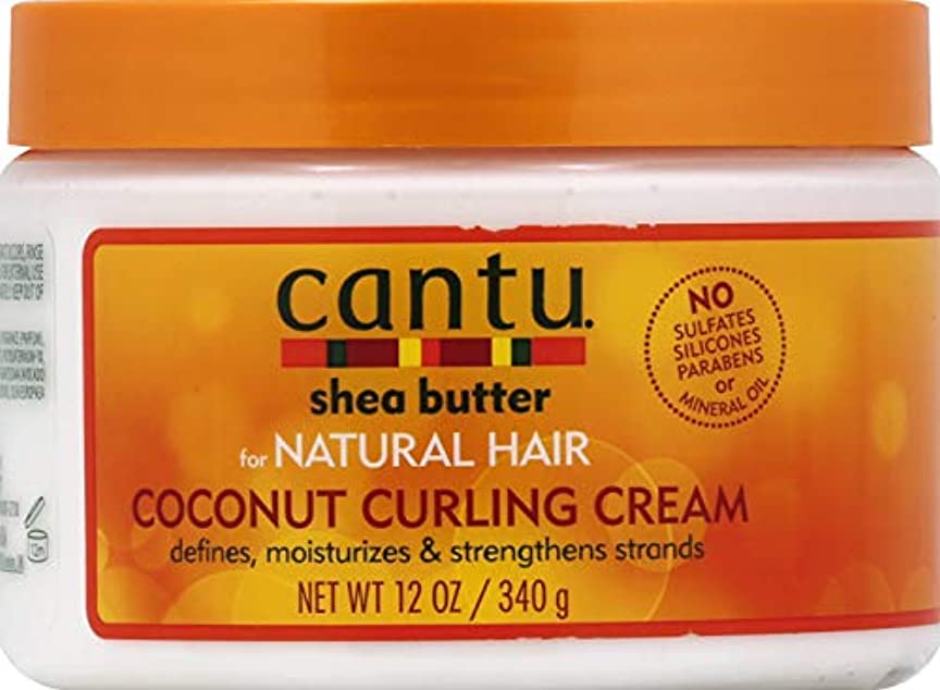ピンチ引退する論争の的Cantu Shea Butter for Natural Hair Coconut Curling Cream 340g