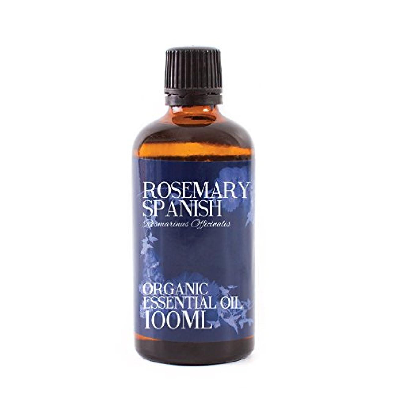 家畜急速な徹底的にMystic Moments   Rosemary Spanish Organic Essential Oil - 100ml - 100% Pure