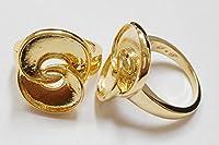 S◆P (SP)アクセサリー素材 Cタイプ リング(指輪) ハンドメイド デコ素材 (19mm(19号), ゴールド)