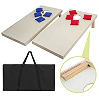 Zeny 3' x 2'ポータブルBeanbag Cornhole Game Set with 8Beanバッグand Carrying Case for Tailgate Party Backyard BBQ