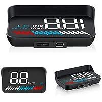 iKiKin HUD ヘッドアップディスプレイ GPS/OBD ダブルシステム 車載スピードメーター 時速をフロントガラスに 過速度警告搭載 フロントガラス上表示 反射フィルム付き すべての車種対応 M7