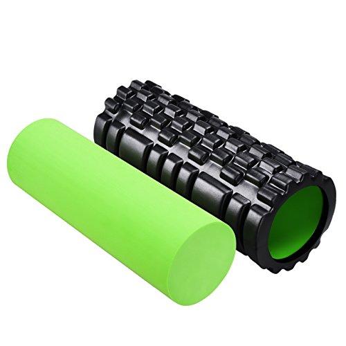 Setom フォームローラー ヨガポールセット ストレッチポール ヨガマッサージ 筋膜リリース 全身運動 ほぐし 肩こりほぐし用
