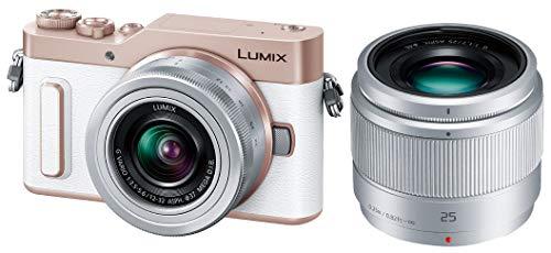 パナソニック ミラーレス一眼カメラ ルミックス GF90 ダブルレンズキット 標準ズームレンズ/単焦点レンズ付属 ホワイト DC-GF90W-W