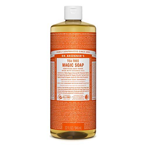 ドクターブロナー Dr. Bronner`s マジックソープ ティートゥリー 946ml クリアで清潔感のある香り
