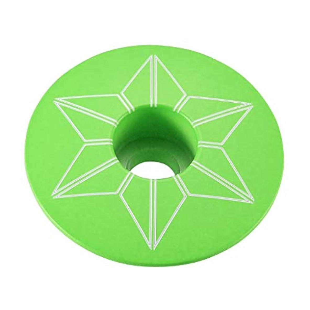水っぽい帝国主義無秩序スパカズ SUPACAZ Neon Green アルミトップキャップ ネオングリーン powder coated