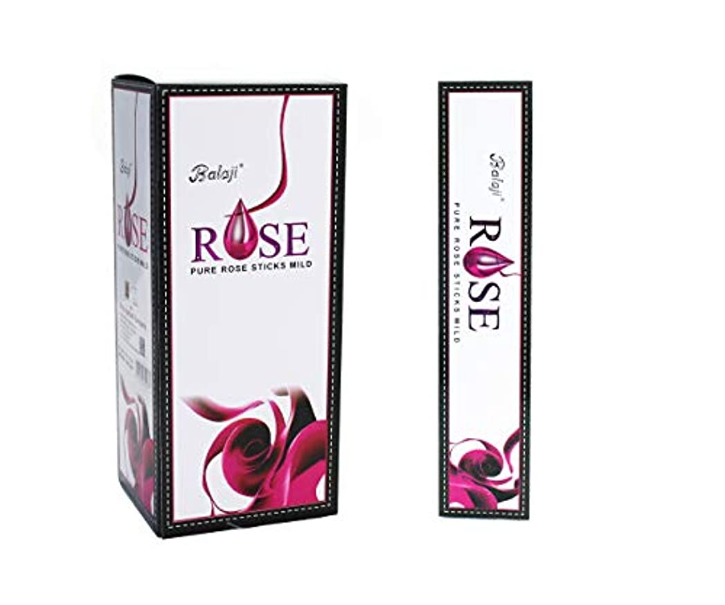 まっすぐ盆地花Balaji Rose - Pure Rose Sticks Mild - 12 Packs of 15 Sticks Each