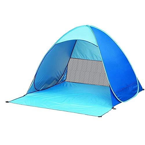 ワンタッチ テント サンシェードテント URBENFIT 日除けUV50 2-3人用 超軽量 防水 通気性抜群 アウトドアキャンプ用品 キャリーバッグ付き (青)