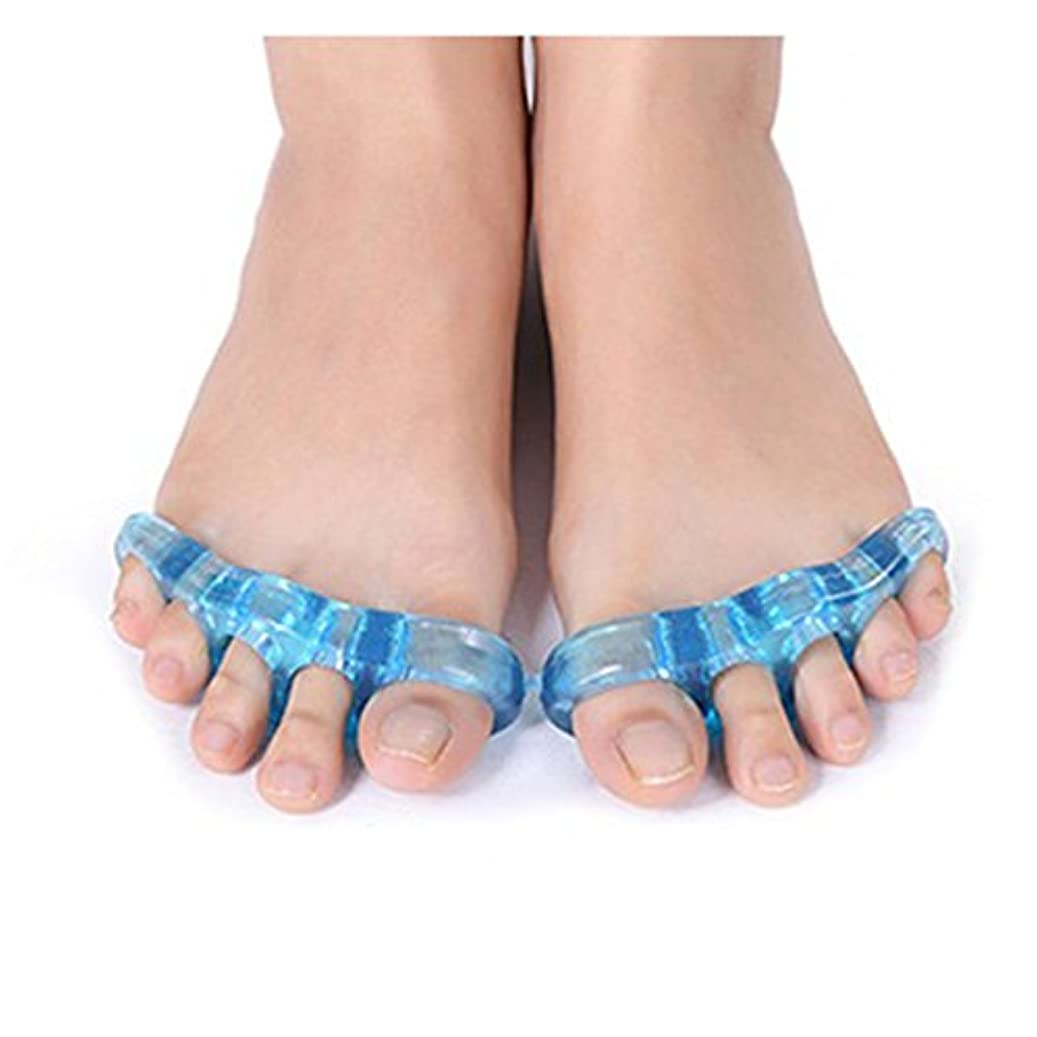 虐待単にキャプテンブライ足指ストレッチパッド 広げる 足ゆび 5本指 両足セット 足指矯正 外反母趾 つま先 (大(約12cm))