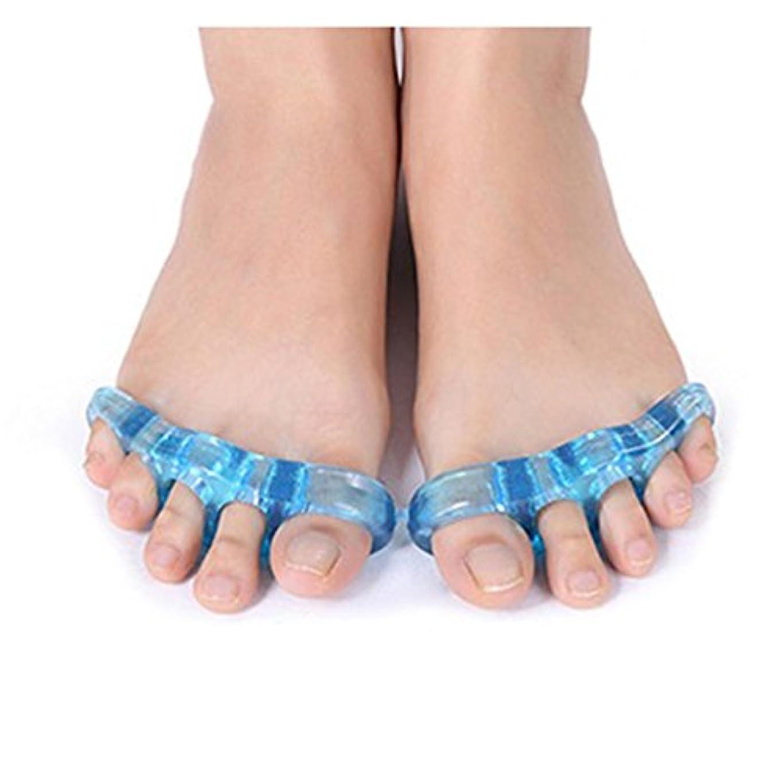 ギャザー赤道のり足指ストレッチパッド 広げる 足ゆび 5本指 両足セット 足指矯正 外反母趾 つま先 (大(約12cm))