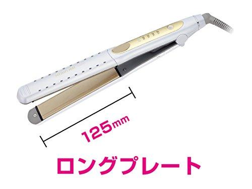 コイズミ ヘアアイロン 2WAY ロングプレート 海外対応 ホワイト KHS-8101/W