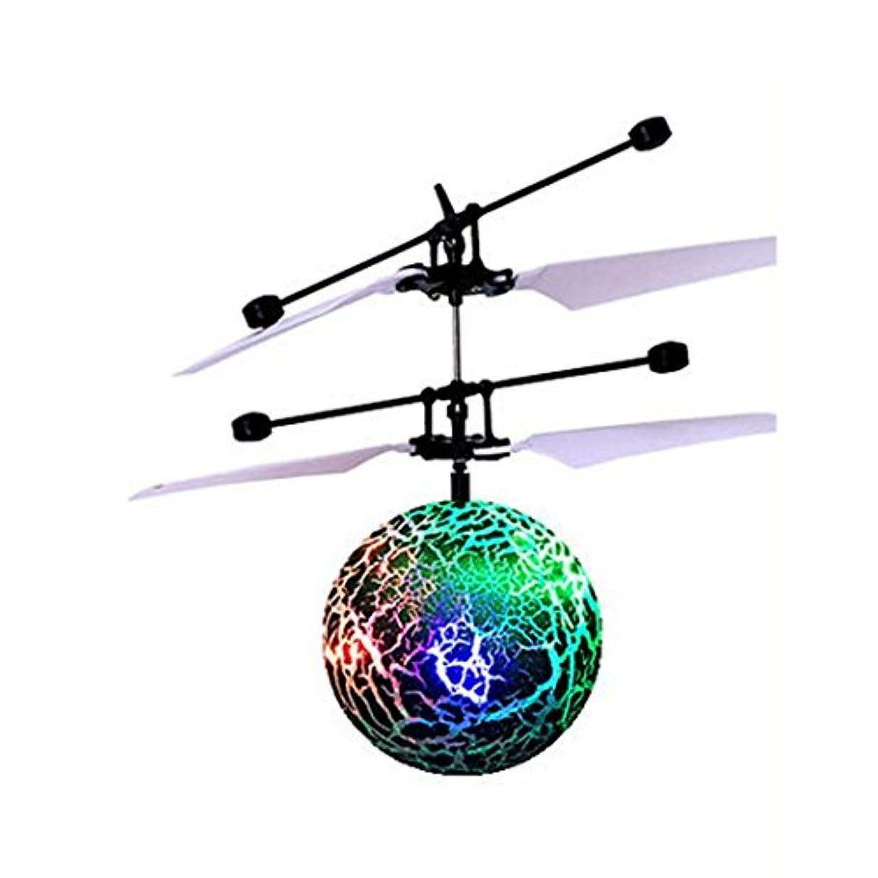 億役に立つアラスカjujunx RCフライングボールドローンヘリコプターボール組み込みシャイニングLED照明Kids Toy As the picture shows