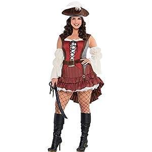 Amscan International Adults Castaway Pirate Costume (UK 14-16)