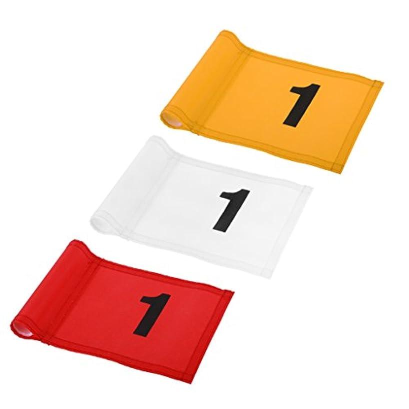 ランデブーアスレチックサンドイッチゴルフ 3ピース 旗 ナイロン ゴルフ 練習 1番 グリーン旗