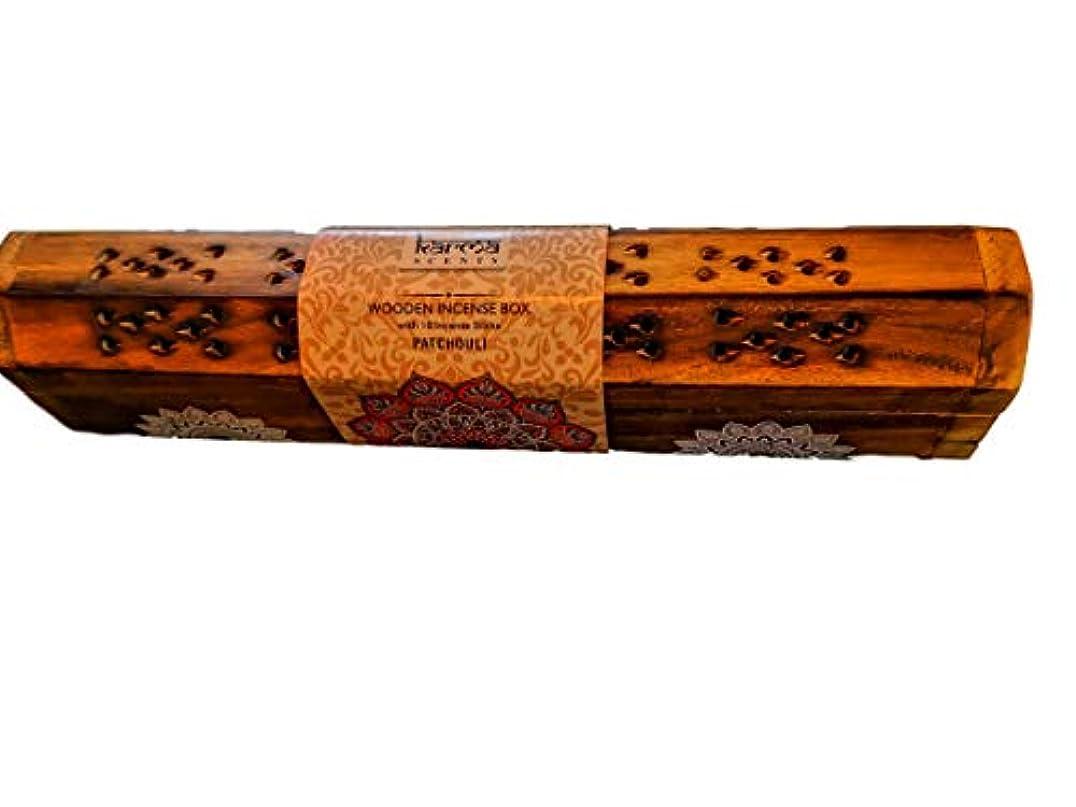 割り当て貴重なドキュメンタリーKarma Patchouli Incense Wooden Set