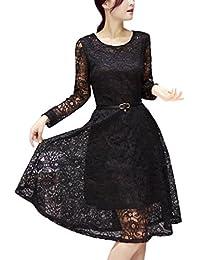 230e1ae6cbc05 Amazon.co.jp  ブラック - ワンピース・チュニック   ワンピース・ドレス ...