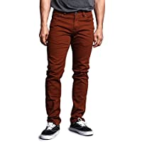 Victorious Men's Skinny Fit Color Stretch