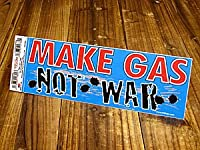 バンパーステッカー(シール、デカール)/MAKE GAS NOT WAR_SC-DDTT789-MON