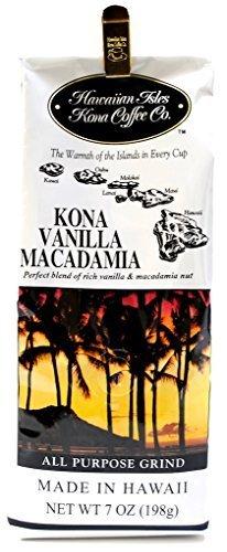 コナ コーヒー バニラマカダミアナッツ 7oz ×2 Hawaiian Isles Kona Coffee Vanilla Macadamia Nut