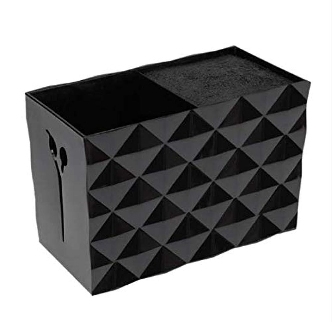 包帯やさしいロボットLivemarket プロのアクセサリー非スリップソケット髪シザー櫛ポットスタンドケーススタイリングサロンヘアクリップ人気の収納ボックス (ブラック)