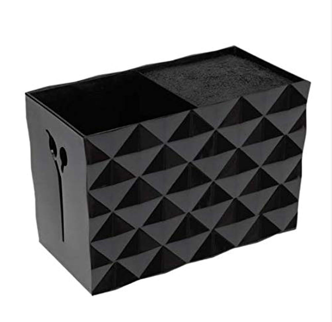 アグネスグレイ追放する深めるLivemarket プロのアクセサリー非スリップソケット髪シザー櫛ポットスタンドケーススタイリングサロンヘアクリップ人気の収納ボックス (ブラック)
