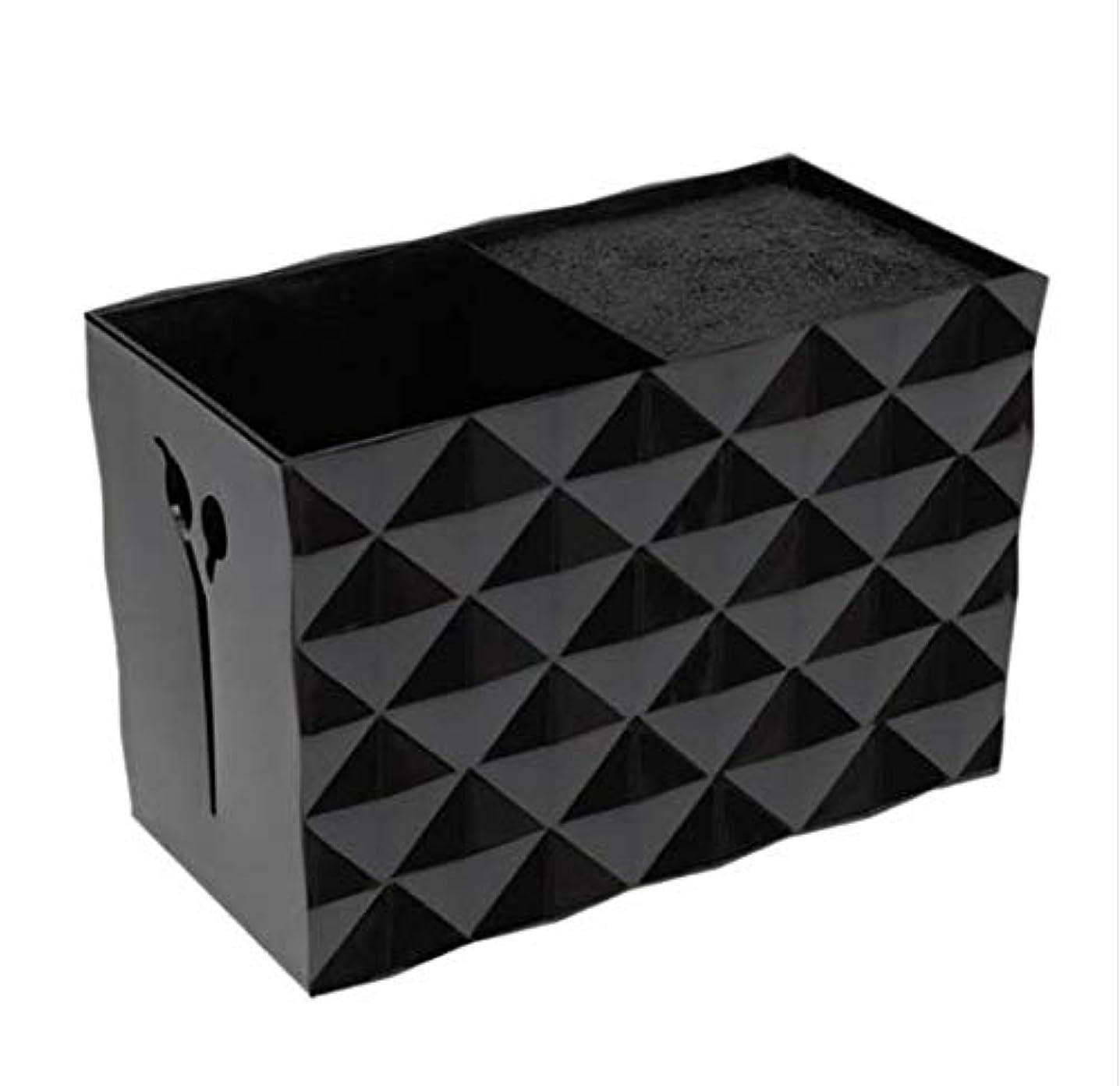 定期的に敵対的利用可能Livemarket プロのアクセサリー非スリップソケット髪シザー櫛ポットスタンドケーススタイリングサロンヘアクリップ人気の収納ボックス (ブラック)