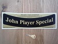 John Player Special JPS Curved Helmet Visor Sunstrip Sticker ジョン・プレイヤー ヘルメット カー ステッカー シール デカール ブラック&ゴールド 305mm x 58mm [並行輸入品]