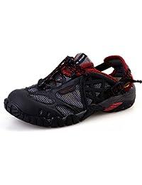 メンズウォーターシューズ サンダル 水陸両用 アウトドアシューズ つま先保護 夏用靴 速乾 Qianling Collection